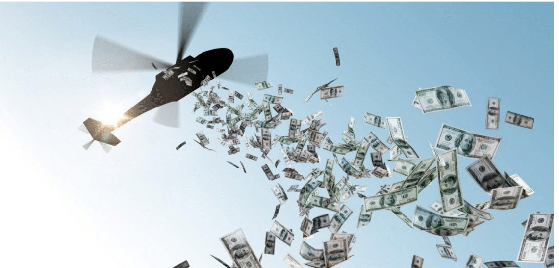 Read more about the article Americans sometimes use helicopter money to buy Bitcoin